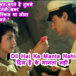 Dil Hai Ke Manta Nahin Song Lyrics